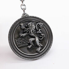 New Silver Game of Thrones Lannister of Casterly Rock Metal Keychain