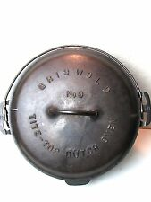 Griswold No. 9 Cast Iron Dutch Oven Tite-Top Baster 834 Slant Logo w/ 2552 Lid