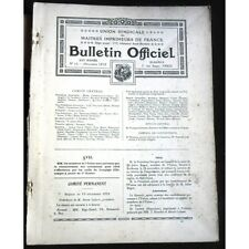 Maitres Imprimeurs de France BULLETIN OFFICIEL Union Syndicale NOËL 1912