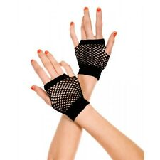 Black Small Diamond Net Dancer Style Fingerless Gloves Sexy Lingerie P478
