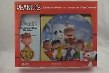 Peanuts Christmas Gift Set Charlie Brown Snoopy Linus Collector Plate & Cookies