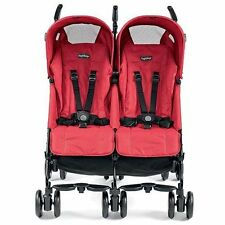 Peg Perego 2015 Pliko Mini Twin Double Stroller in Mod Red Brand New!!