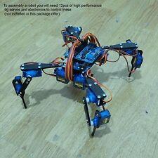 "Four Feet Robot 4-Legged Hexapod3 Mini ""Spider"" Arduino DIY Robot KIT NO SERVOS"
