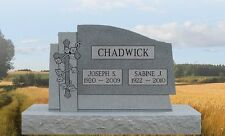 Granite Headstone Cross with vine Grave Marker Tombstone just add your text