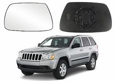 Driver Side LH Replacement Power Mirror Glass For 2005-2010 Jeep Grand Cherokee