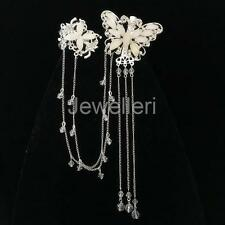 Fashion Butterfly Hair Clip Wedding Bridal Women Hair Jewelry Head Chain