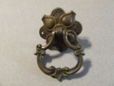 ANTIQUE VINTAGE DRAWER PULL BRASS SINGLE SCREW RING ROUND (SD3 75 )