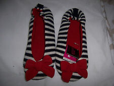 NWT Ladies Striped Ballerina house slippers La Senza - size M - Great Gift Idea!