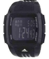 Adidas Performance Black Dial Black Polyurethane Mens XL Duramo Watch  ADP6034