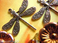2 Stk. Zierliche Copper Plated Dragonfly Charms- Libellen-Anhänger -21x23mm-