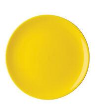 Piatto Pizza SATURNIA di porcellana forma Napoli colore giallo Ø 33cm NUOVI