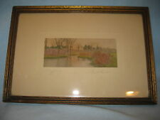 "Antique Signed DAVID DAVIDSON Handtinted Photograph ""A May Morning"" Framed Print"