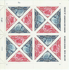 PACIFIC '97 EXPO STAMP SHEET -- USA #3130-3131 32 CENT 1997 TRIANGLE STAMPS