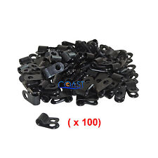 "Secure Screw-on Wire Electrical Plastic Cable Clamp Plug 1/8"" Black - 100 pcs"