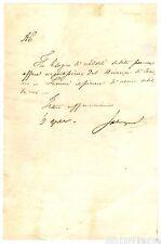 Lettera Autografo Risorgimento Ministro Salvagnoli Affare Luciano Bonaparte 1835