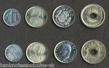 SPAIN COIN SET 1+5+10+25 Pesetas 1984-2001 UNC UNCIRCULATED LOT of 4