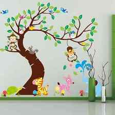 Animal Monkey Giraffe Wall Stickers Art Nursery Children's Bedroom Decor UK