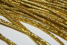 "Fly Tying Braided Holo Gold mylar Small 3/16""fry patterns trout bass pike salmon"