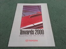 1990 TOYOTA TOWARDS 2000 - MR2 CELICA LANDCRUISER SUPRA PREVIA LEXUS UK BROCHURE