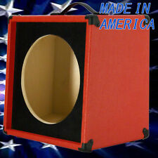 1x12 Guitar Speaker Extension Empty Cabinet  Fire Red Tolex & Black front baffle