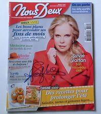 Autographe Sylvie Vartan dédicace Nous Deux 3559 Septembre 2015