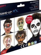 Smiffys FX Halloween Fancy Dress Make Up Face Paint 8 Cols Kit New in Pack