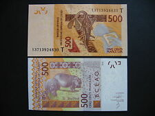 WEST AFRICAN STATES (TOGO)  500 Francs 2012 (2013)  (Pnew)  UNC