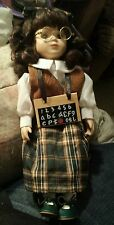 """Wyndham Lane """"Amy"""" Porcelain Collectible Doll with Certificate of Authenticity"""