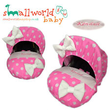 Personalised Pink Polka Dot Baby Car Seat Cover (NEXT DAY DISPATCH)