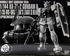 1/144 RX-78-2 Gundam & 1/35 MS-06S Char's Zaku II Head Premium 35th Exclusive