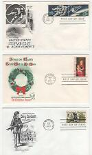 US FDC 1967 Year Set 16 First Day Covers All Cacheted All Unaddressed |