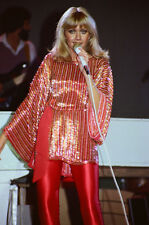 """12""""*8"""" concert photo of Olivia Newton John playing at Manchester in 1978"""
