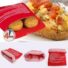 1X Microwave Potato Fast Cooking in 4 Minutes Reusable Washable Bag Kitchen CA
