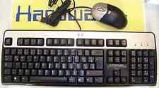 HP Tastatur PS/2, PS2 Maus USB, Silver Black design deutsch
