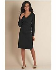 Soft Surroundings Black Stretch Cotton Shapely Anywhere Dress S 4/6 $79 MISC