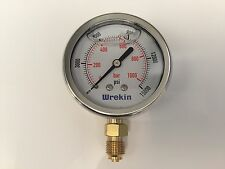 Hydraulic Pressure Gauge 63mm Bottom Entry 0-15000 PSI 1000 Bar GB631000/04