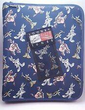 Vtg 1998 Looney Tunes Zip Up 3 Ring Binder Bugs Taz Daffy Pencil Case