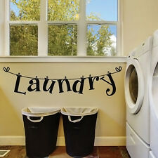 Laundry Room Quote Wall Sticker Removable Vinyl Art Decorative Washhouse Decals