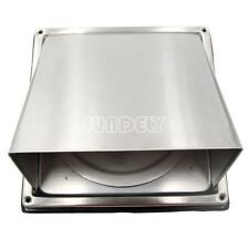 """Stainless Steel Cooker Hood Extractor Outside Wall Air Vent Cowl Hood Outlet 4"""""""
