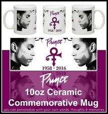 NEW PRINCE (ROGERS NELSON) TRIBUTE COMMEMORATIVE PERSONALISED CERAMIC MUG