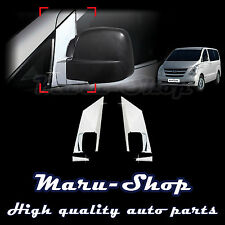Chrome Side Rear View Mirror Bracket Cover Trim for 07~ Hyundai H-1/iLoad/iMax