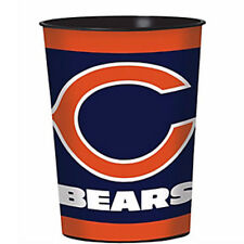 NFL CHICAGO BEARS REUSABLE KEEPSAKE CUPS (2) ~ Birthday Party Supplies Sports