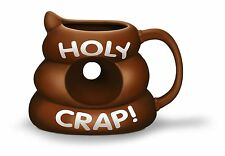 HOLY CRAP! Mug Poop Shaped Mug Gag Prank Gift Funny Cup Coffee BRAND NEW