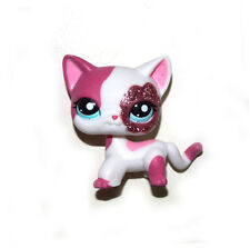 Littlest Pet Shop Sparkle Pink Short Hair Cat Kitty Figure Child Toy LPS807