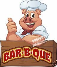 "BAR-B-QUE Decal 14"" BBQ Restaurant Concession Trailer Food Truck Vinyl Sticker"