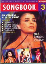 Songbook 3 Australian pop songwords Michael Jackson Metallica Guns N Roses