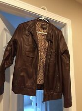 womens faux leather jacket XL