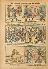 Caricature Guerre anti Boches Kaiser Wilhelm Guillaume II  WWI 1915 ILLUSTRATION