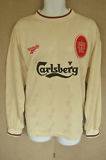 EX CON. Liverpool cream away shirt, long sleeved 1996/1997 season FOWLER