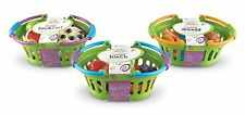 Learning Resources New Sprouts Healthy BASKET SET, 3 Pcs Basket Play Food BUNDLE